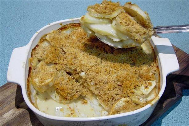 Crunchy Scalloped Potatoes With Thyme