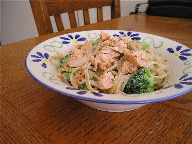 Lisa's Salmon Ricotta Broccoli Linguini