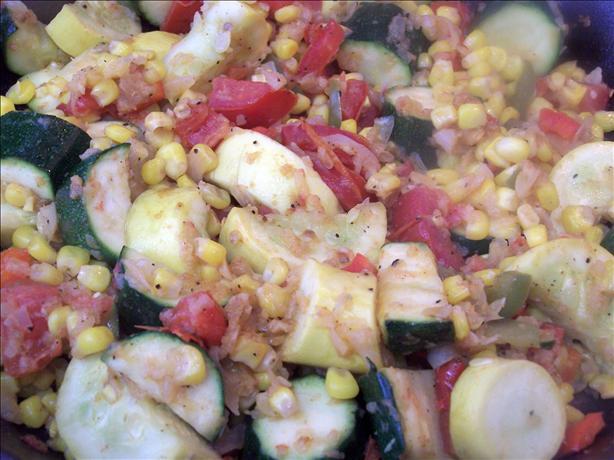 Zucchini, Corn, and Tomato Combo