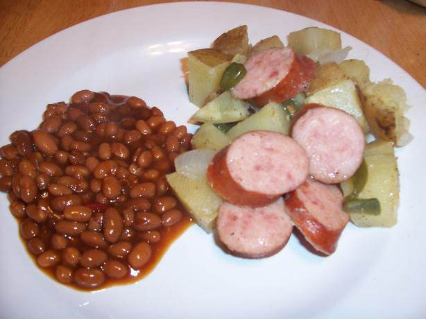 Barbecue Grilled Kielbasa Dinner Packets