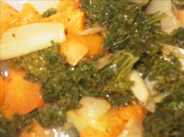 Roasted Vegetables With Kale