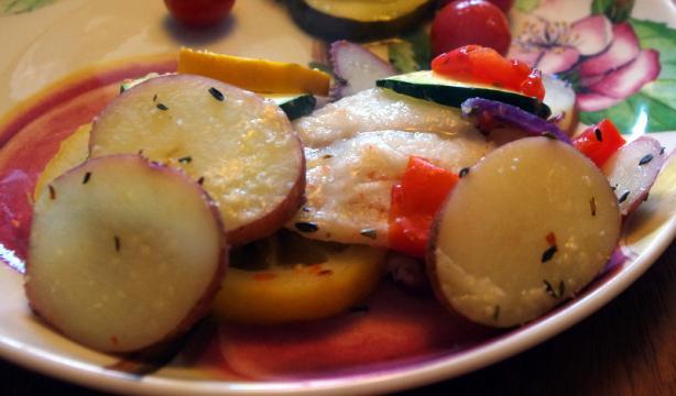 Haddock With Fresh Summer Vegetables