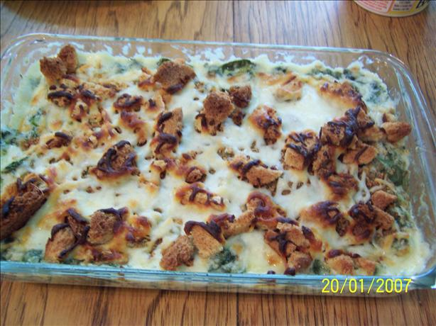 Greens and Mozzarella Casserole