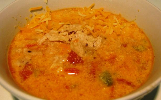 Chicken Cheese Enchilada Soup