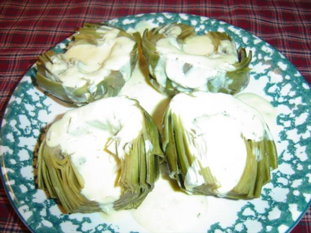 Artichokes With Lemon Rosemary Sauce