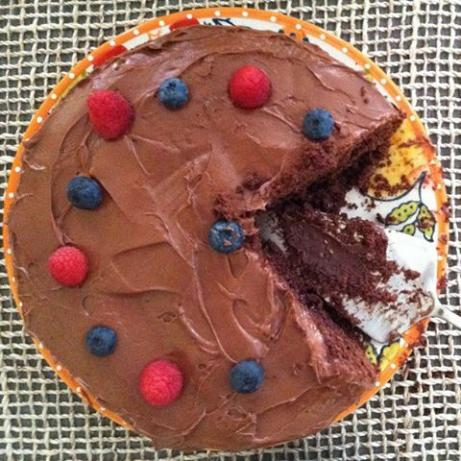 Dark Chocolate Cake With a Raspberry Filling