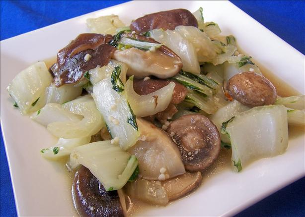 Bok Choy and Shiitakes