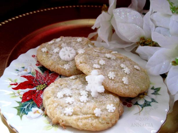White Snowflake Cookies