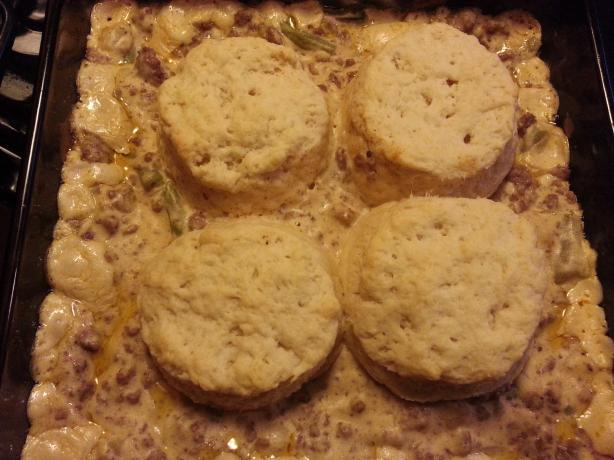 Ground Beef Casserole With Biscuits