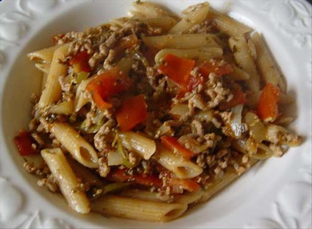 Curried Mince Macaroni