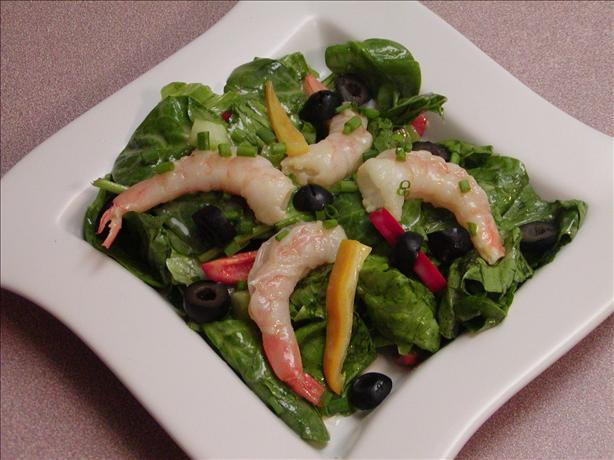 Shrimp & Spinach Salad with Vinaigrette