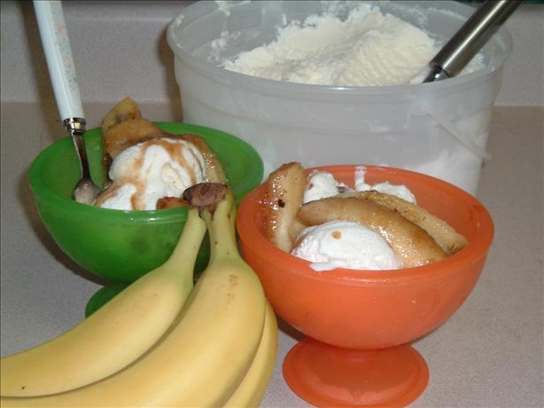 Caramel Bananas with Maple Syrup