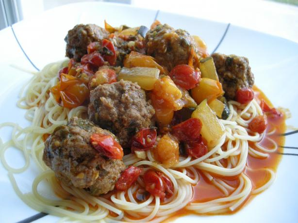 Moroccan Meatballs -- Tagine Kefta