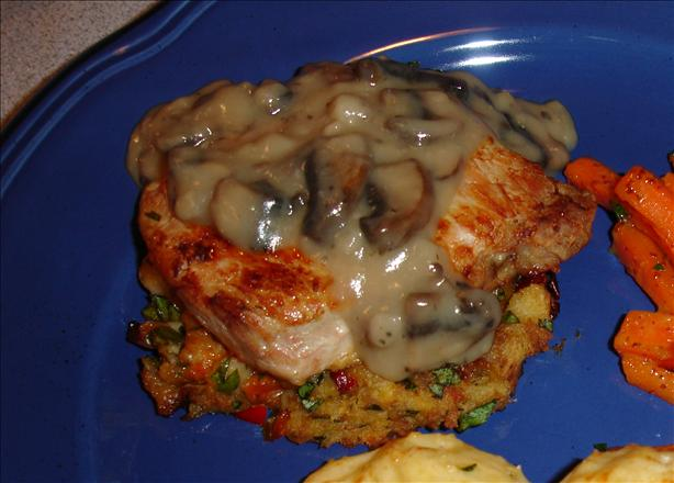 (Un)stuffed Pork Chops With Mushroom Sauce
