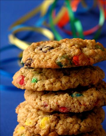 Chewy Oatmeal and M&M cookies