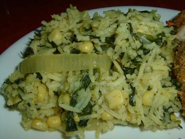 Corn & Spinach rice