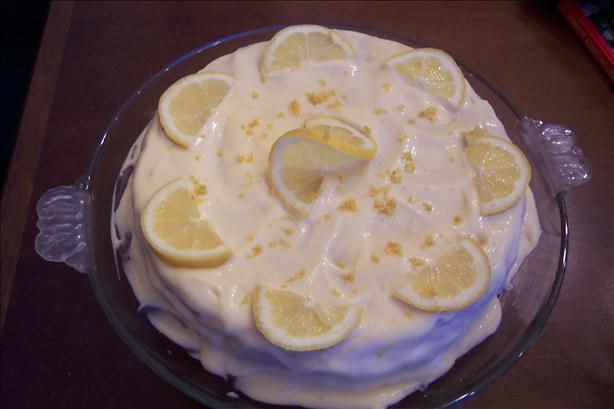 Lemon Layer Cake With Lemon Cream Frosting
