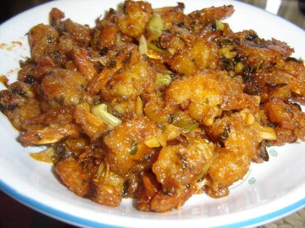 Manchurian Shrimp (Garlic Flavored Shrimp)