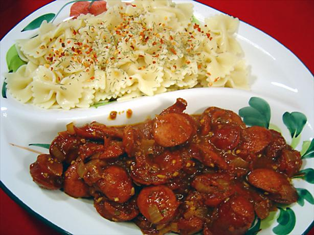 Rotini with Spicy Andouille Sauce
