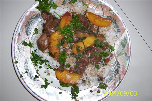Lamb With Peaches
