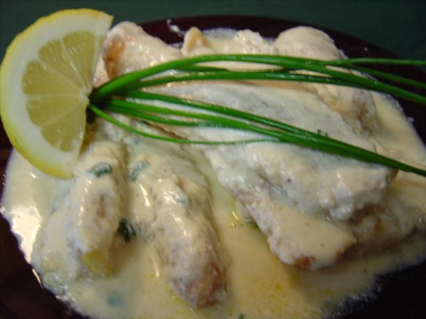 Cod with Mustard Cream Sauce