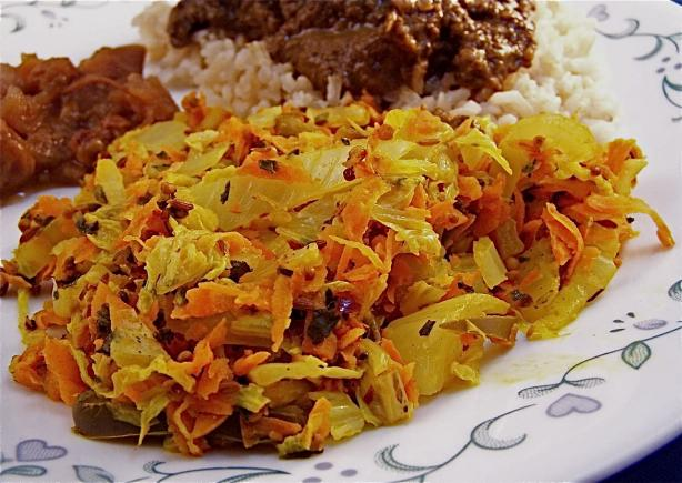 Indian Cabbage and Carrots