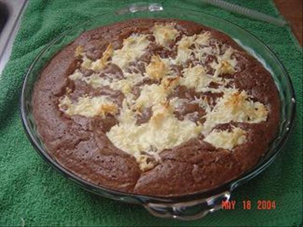 Coconut Brownie Pie