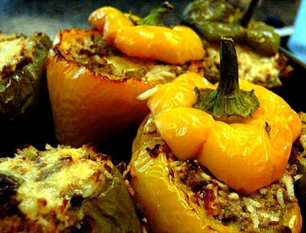 Zesty Stuffed Green Bell Peppers