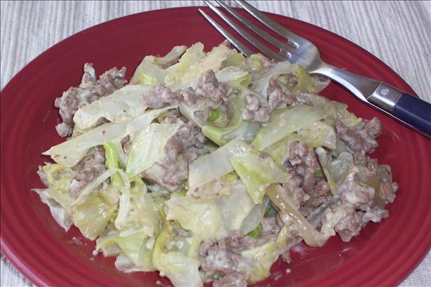 Beef & Cabbage Alfredo