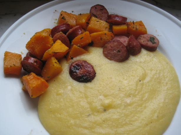 Herb-Roasted Butternut Squash and Sausages