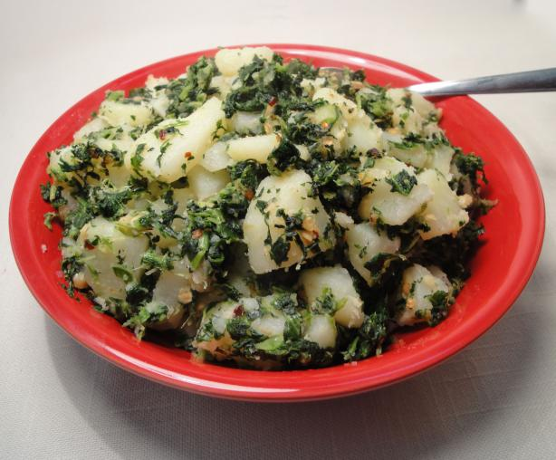Italian Potatoes and Spinach