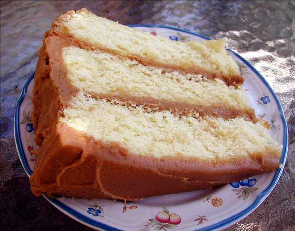 1-2-3-4 Cake With Caramel Icing