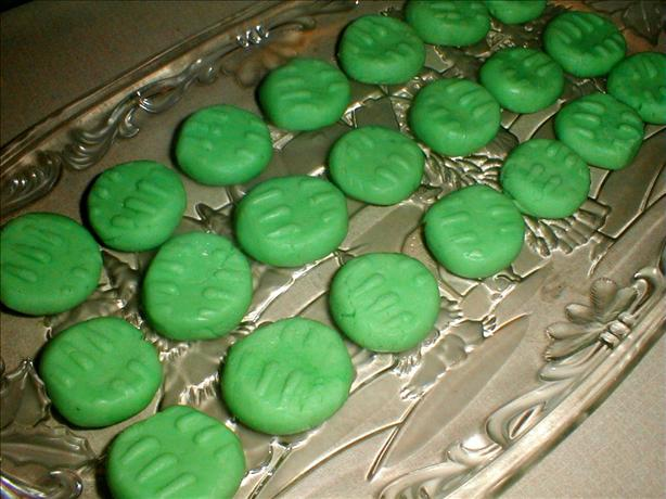 Peppermint Cream Cheese Mints