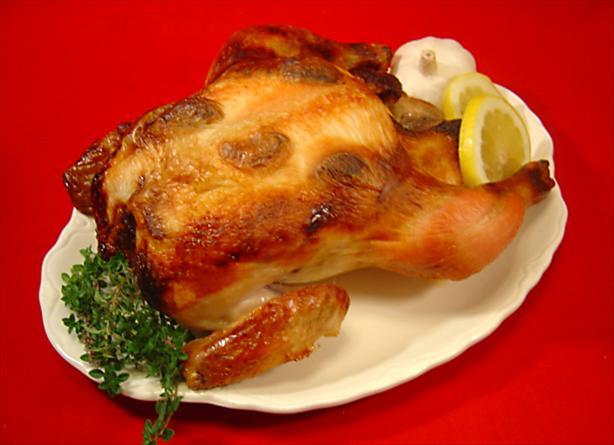 Roast Brined Chicken