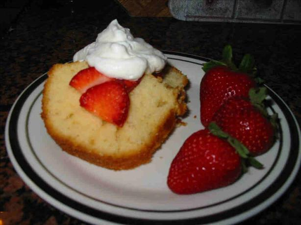 Strawberry Yogurt Pound Cake