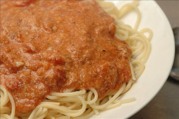 Creamy Tomato Meat Sauce