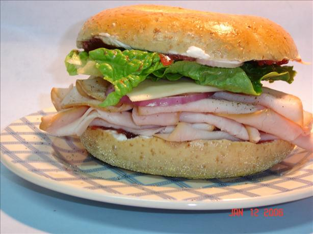 Cranberry Turkey Bagel
