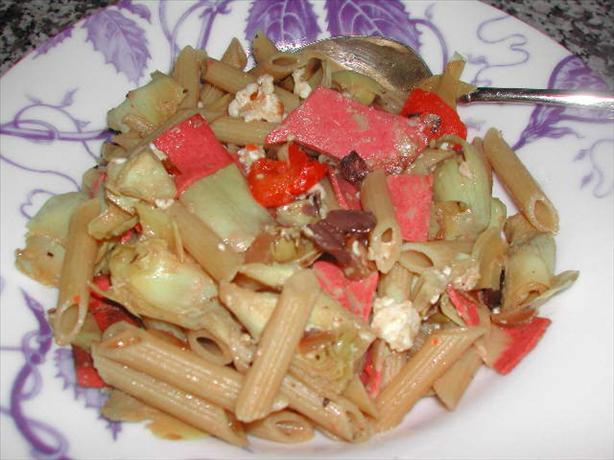 Penne with Artichokes & Feta