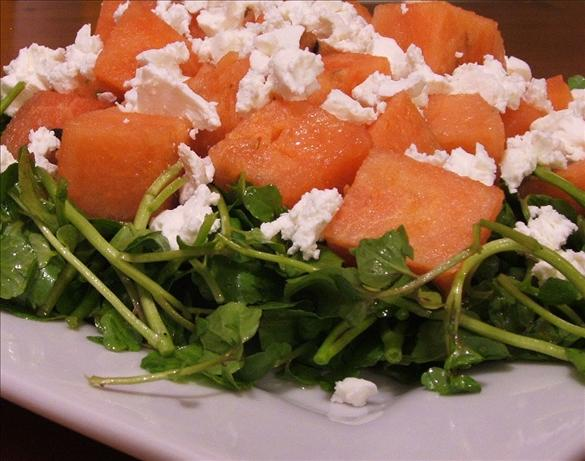Watermelon and Watercress Salad