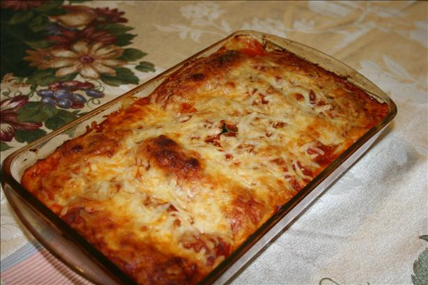 Ground Chicken and Spinach Cannelloni
