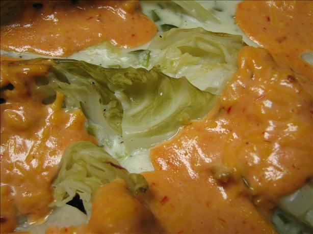 Cabbage Wedges With Cheese Sauce