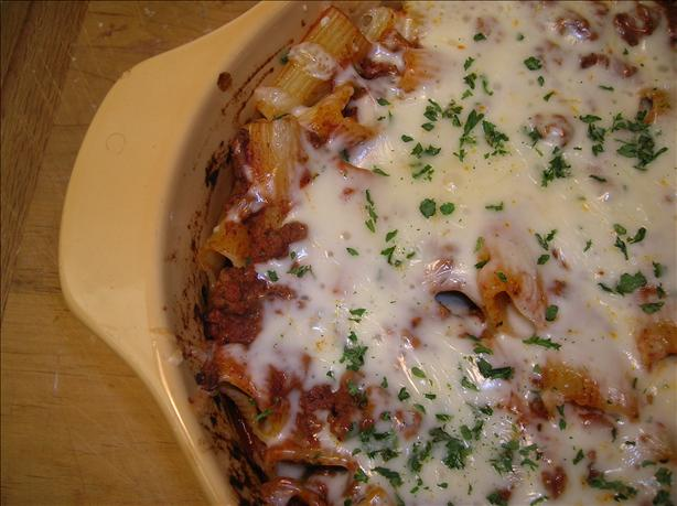 Awesome Cheesy Rigatoni Bake