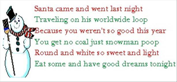 Snowman Poop 2
