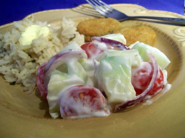 Creamy Tomato-Cucumber Salad