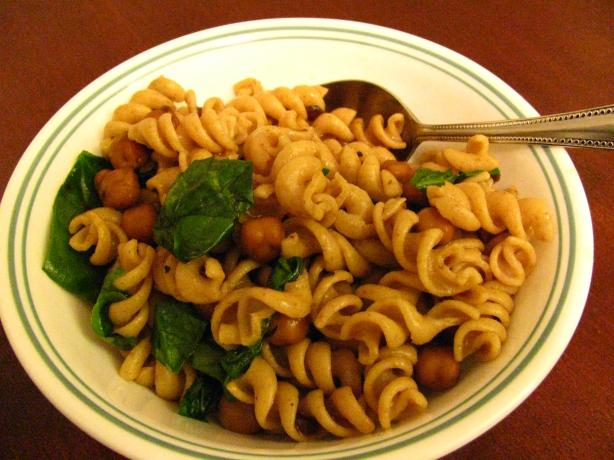 Fusilli with Garbanzo Beans