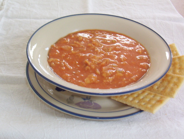 Low-Fat Salmon Bisque