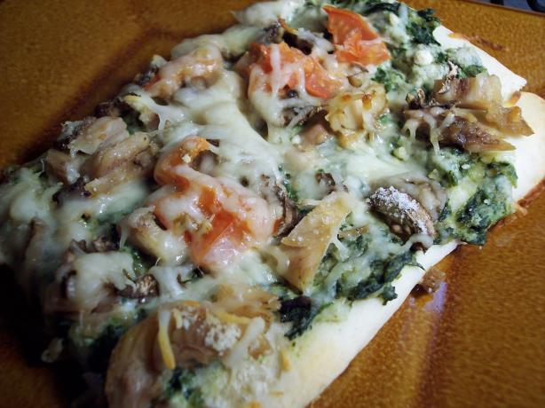 Chicken-Pesto Pan Pizza