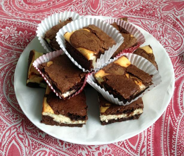 Ricotta-Filled Brownie Squares