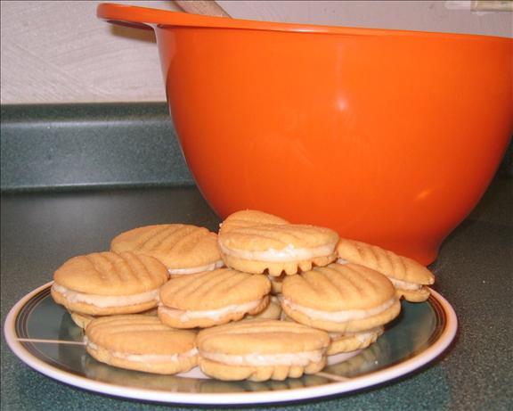 Caramel Cream Sandwich Cookies