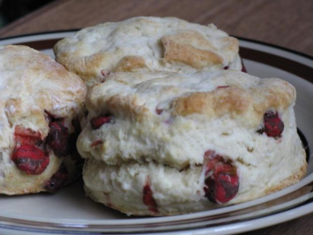 Raspberry Chip Scones